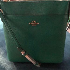 Coach Green Leather Small Crossbody Bag New